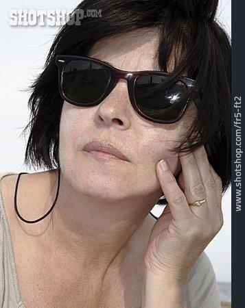 Portrait, Woman, Sunglasses