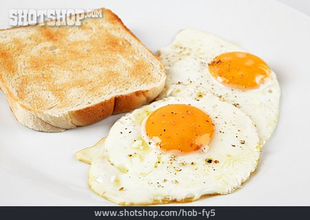 Breakfast, Fried Egg, Toast
