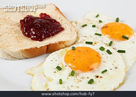 Breakfast, Fried Egg, Marmalade, Toast