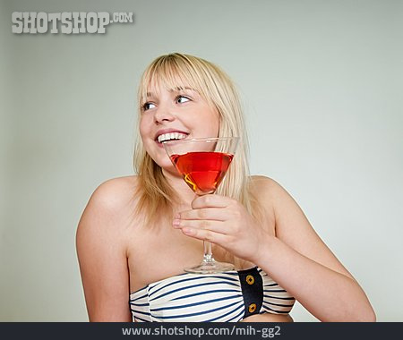 Woman, Cocktail, Holidaymaker