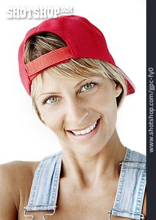 Woman, Basecap, Portrait, Craftsperson Female