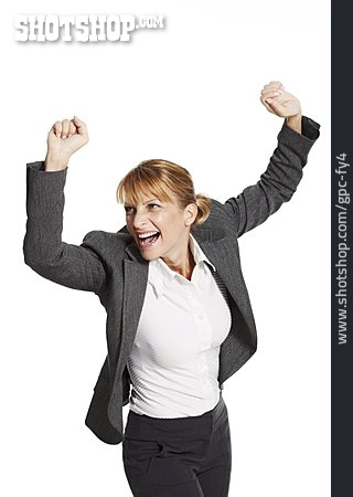 Business Woman, Office Assistant, Cheering
