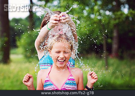 Girl, Refreshment, Fun & Happiness, Cooling, Summer, Water Fight