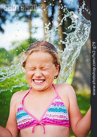Girl, Refreshment, Cooling, Water Fight