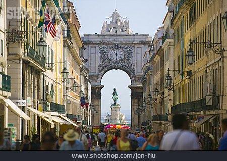 Lisbon, Commerce Square, Pracio Del Comercio