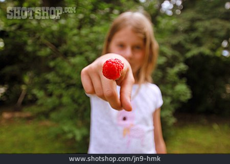 Child, Raspberry, Rural Scene