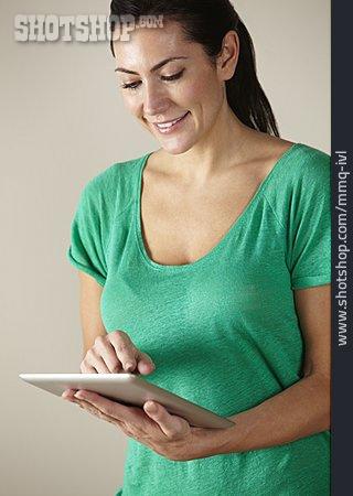 Woman, Mobile Communication, Tablet-pc