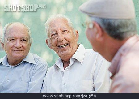 Man, Senior, Entertainment, Meeting & Conversation, Friends