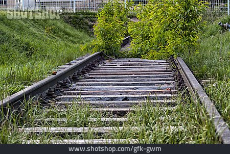 Track Bed, Decommissioned, Railroad Track