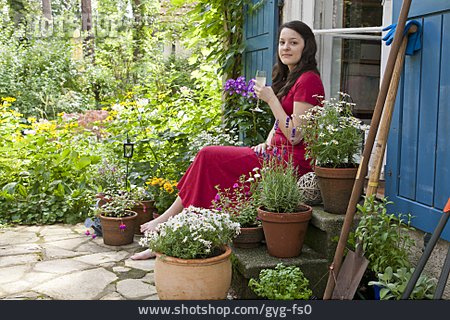 Woman, Relaxation & Recreation, Patio