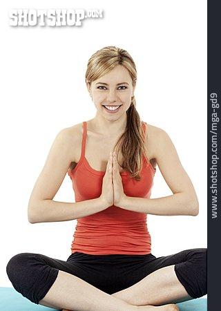 Young Woman, Yoga, Meditate