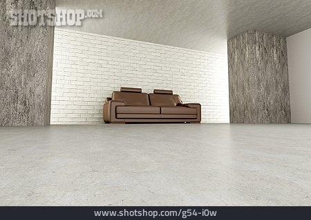 Sofa, Room, 3d Rendering