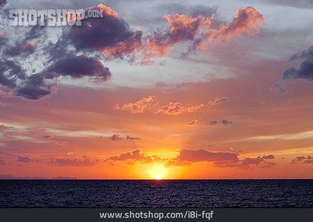 Sky, Sunset, Horizon, Sea