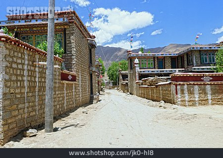 Village, Rural Scene, Tibet