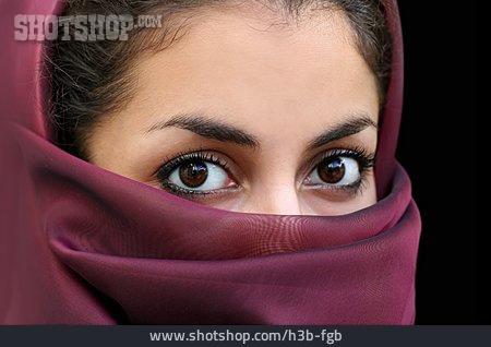 Young Woman, Islam, Veiled, Believers, Muslima