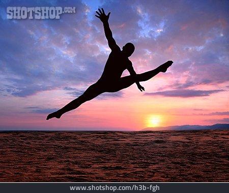 Figurine, Graceful, Balancing Act, Jump