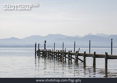 Lake, Pier, Chiemsee