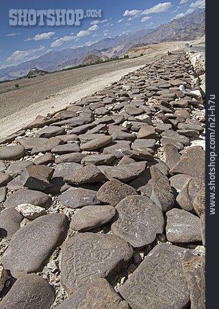 Ladakh, Mani Stone