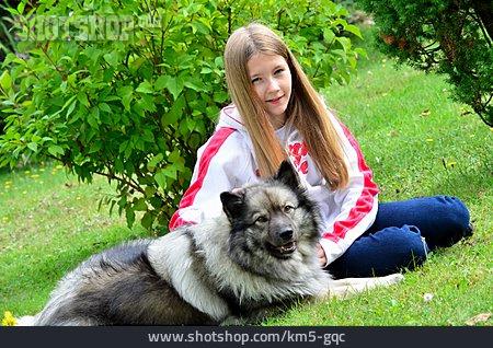 Girl, Friendship, Dog