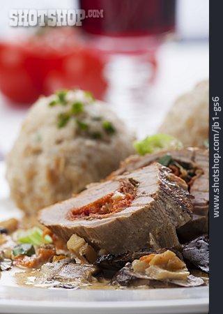 Meal, Roulade, Bread Dumpling, Fillet Of Pork