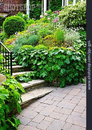 Garden, Staircase, Front Garden, House Entrance