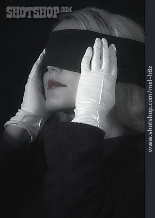 Young Woman, Woman, Relation, Blindfold