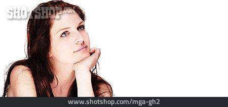 Copy Space, Young Woman, Portrait