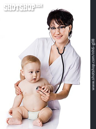 Baby, Examining, Pediatrician