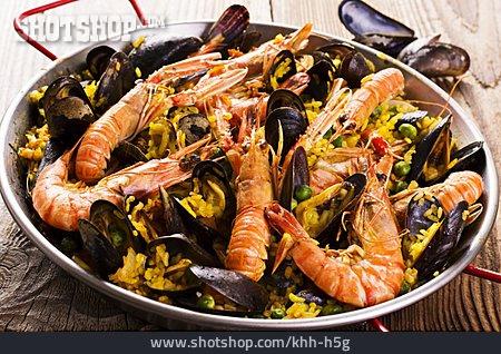 Paella, Rice Pan, Paella De Marisco