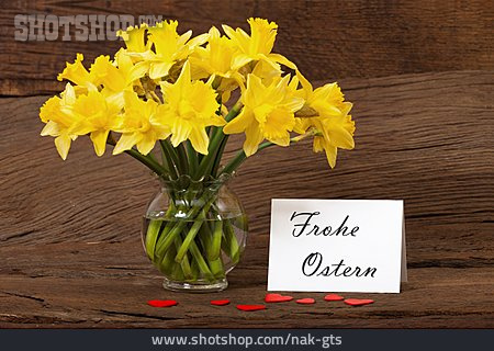 Easter, Daffodils, Happy Easter