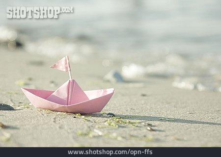 Beach, Summer, Paper Boats