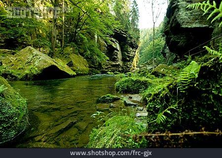 Czech Republic, Kamnitzklamm, Kamnitz