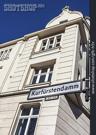 Berlin, Kurfuerstendamm, Street Name