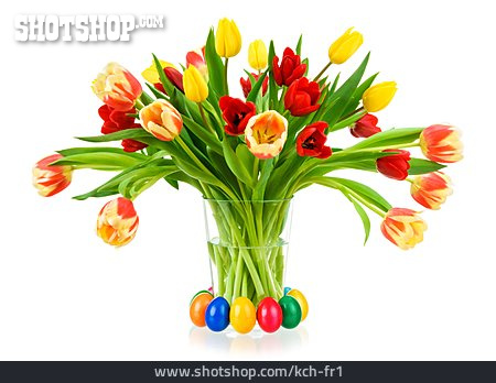 Easter, Tulips Bouquet, Easter Decoration, Tulips