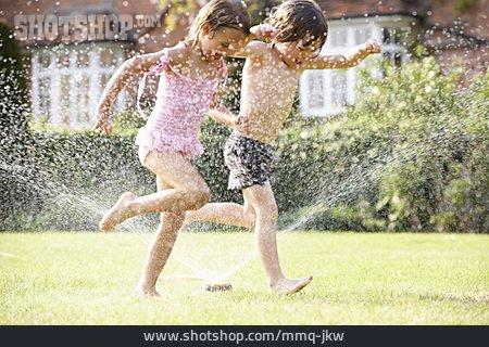 Child, Garden, Summer, Playing, Splashing