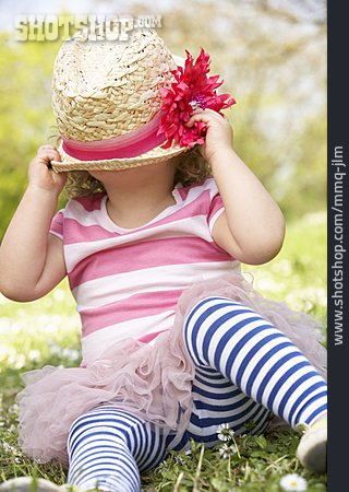 Girl, Straw Hat