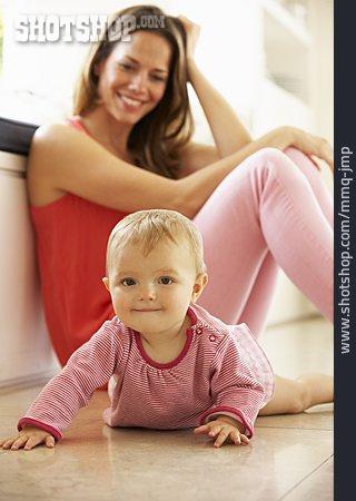 Baby, Mother, Daughter, Crawling, Crawling