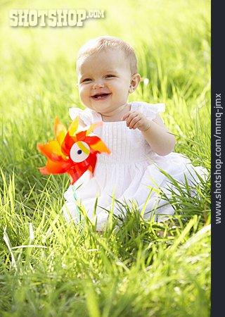Baby, Meadow, Summer