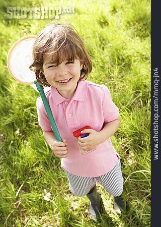 Boy, Fun & Games, Fishing Net