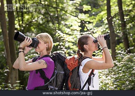 Watching, Binoculars, Expedition, Hiker, Ornithology
