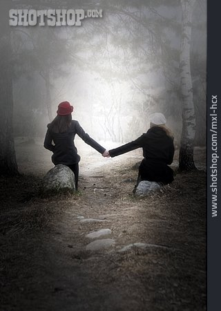 Friendship, Girlfriend, Hand In Hand