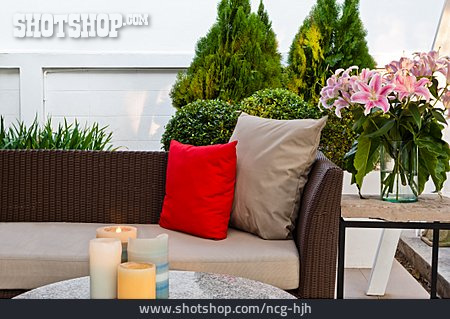 Sofa, Interior, Garden Furniture