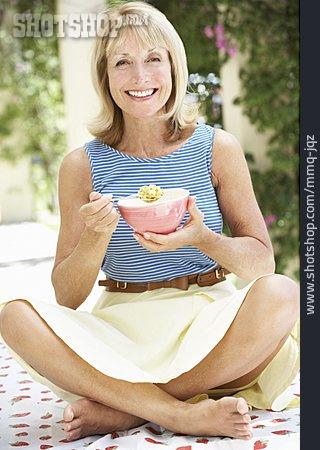 Woman, Breakfast, Cereal
