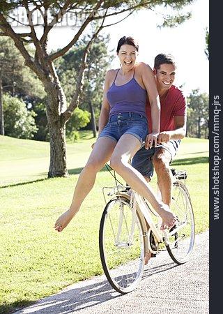 Couple, Fun & Happiness, Cycling