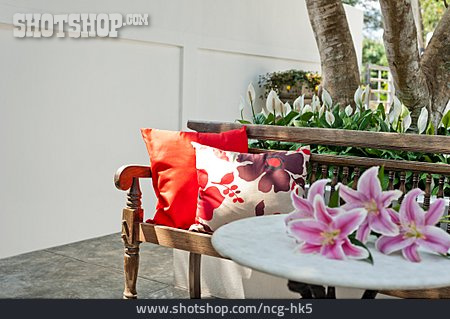 Bench, Garden Furniture, Patio