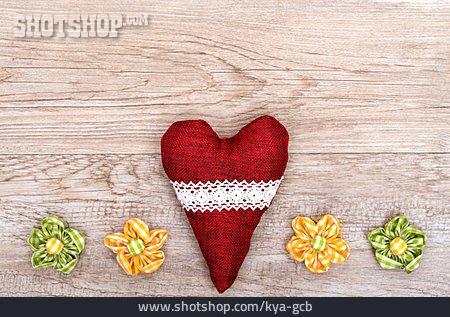 Blossom, Heart, Wooden Board