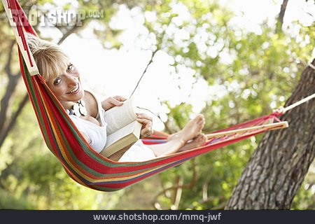 Woman, Relaxation & Recreation, Reading, Hammock