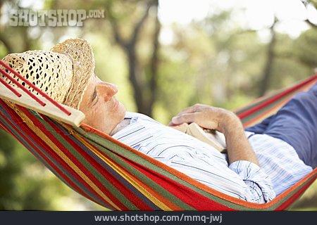 Man, Senior, Relaxation & Recreation, Siesta