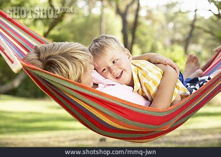 Mother, Enjoyment & Relaxation, Son, Hammock