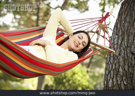 Young Woman, Enjoyment & Relaxation, Relaxation & Recreation, Hammock